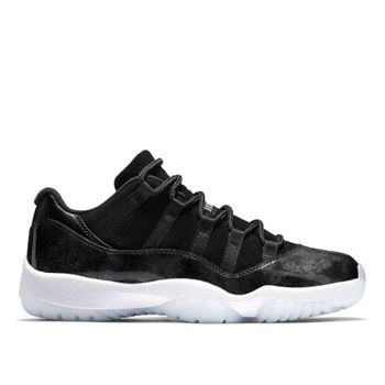 Air Jordan 11 Low Barons Black/Metallic Silver-White (528895-010)
