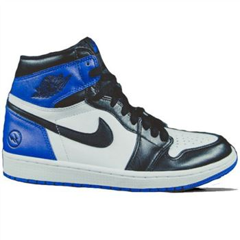 716371-040 Air Jordan 1 Retro High OG White/Sport Royal-Black