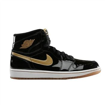 555088-019 Air Jordan 1 Retro High OG Black Metallic Gold-White