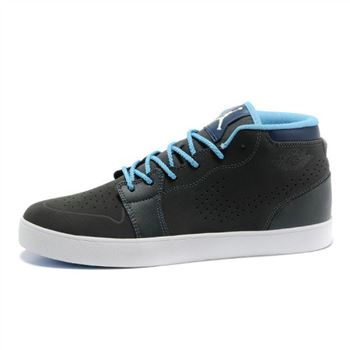 Air Jordan 1 Dark Grey Blue Mens Vivism Casual Shoes