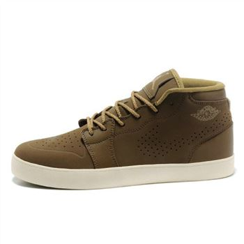 Air Jordan 1 Dark Brown Mens Vivism Casual Shoes