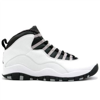 310805-103 Air Jordan Retro 10 (X) Steel White Black Light Steel Grey A10003