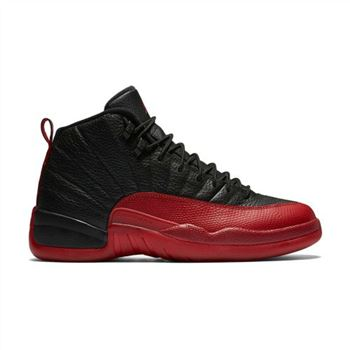 "Authentic 130690-002 Air Jordan 12 Retro ""Flu Game"" Black/Varsity Red"