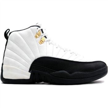 Air Jordan 12 Retro 130690-125 White/Black-Taxi 2013 Women's Shoe