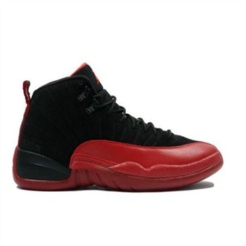 130690-065 Air Jordan 12 Flu Game Black Varsity Red A12003