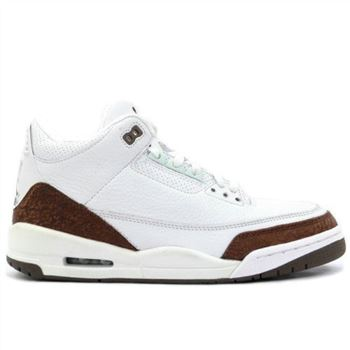 136064 121 Air Jordan 3 Retro Mens Basketball Shoes White Mocha A03010