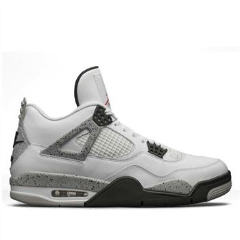 Authentic Air Jordan 4 Retro 836015-192 White/Fire Red-Tech Grey-Black