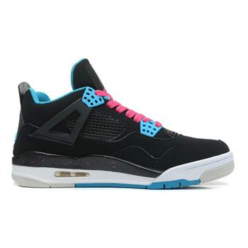 308497-019 Air Jordan 4 Retro South Beach (Black Dynamic Blue Vivid Pink)