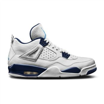 Authentic 314254-107 Air Jordan 4 Retro LS White/Legend Blue-Midnight Navy