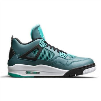 Authentic 705330-330 Air Jordan Retro 4 Teal/Black-Retro-White Men Women