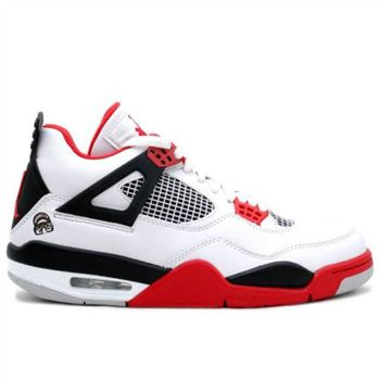 308497-162 Air Jordan 4 Mars White Fire Red Black A04009