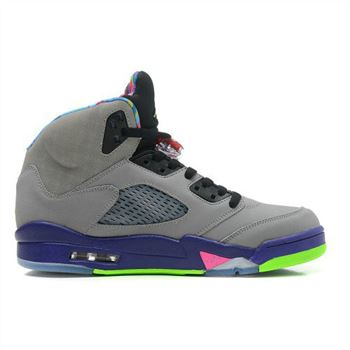 621958-090 Air Jordan V Cool Grey Court Purple-Game Royal-Club Pink (Women Men Gs Girls)
