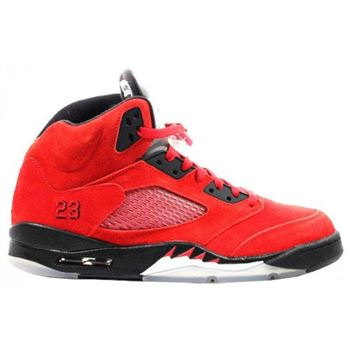 136027-601 Air Jordan 5 (V) Raging Bull Red Suede Varsity Red Black A05005
