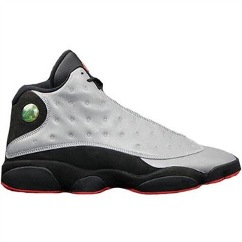 Authentic 696298-023 Air Jordan 13 Retro Premium Reflective Silver/Infrared 23-Black