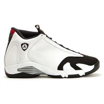 Authentic 414571-102 Air Jordan 14 Retro White/Black-Varsity Red-Metallic Silver