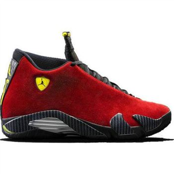 Authentic 654459-670 Air Jordan 14 Retro Varsity Red/Vibrant Yellow-Black