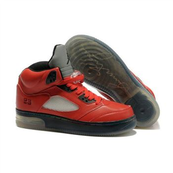 Air Jordan Retro 5 (V) Fire Red Black Mens Light Shoes