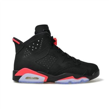 Authentic 384664-023 Air Jordan 6 Retro Black/Infrared 23-Black Men's Shoe