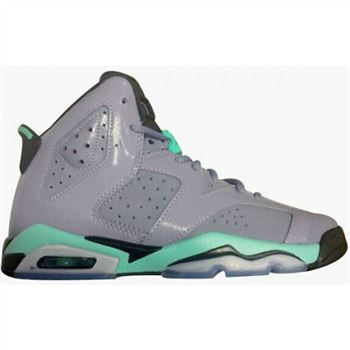 Authentic 543390-508 Air Jordan 6 Retro Girl's Iron Purple/Bleached Turquoise-Black