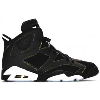 384664-002 Air Jordan 6 (VI) Retro Lakers Black Varsity Purple White Varsity Maize A06008