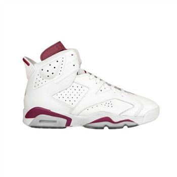 Authentic 384664-116 Air Jordan 6 Retro Off White/New Maroon Style
