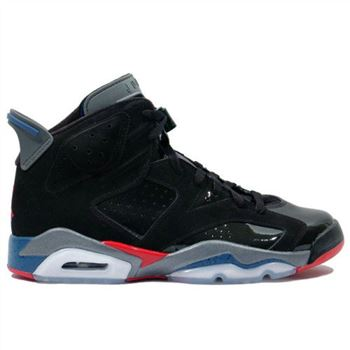 384664-001 Air Jordan Retro 6 Pistons Black Red Blue A06007