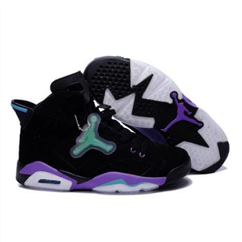 Air Jordan 6 Retro Mens Noctilucent tags Shoes Black Purple