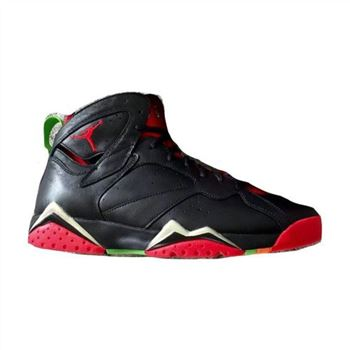 Authentic 304775-029 Air Jordan 7 Retro Black/University Red-Green Pulse-Cool Grey (Women Men)