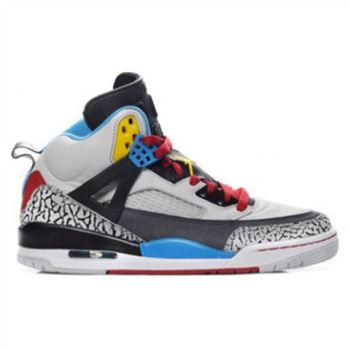 315371-070 Air Jordan Spizike Bordeaux Neutral Grey Varsity Maize Dark Charcoal Sapphire Blue Varsity Red Black A23005