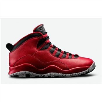 Authentic 705178-601 Air Jordan 10 Retro Gym Red/Black-Wolf Grey
