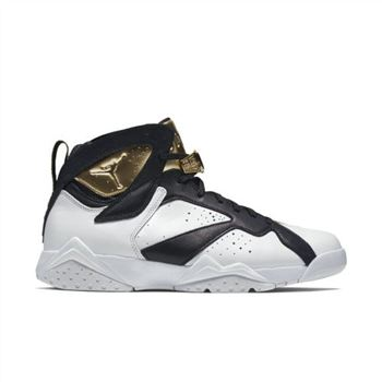 Authentic 725093-140 Air Jordan 7 Retro C&C White/Metallic Gold-Black