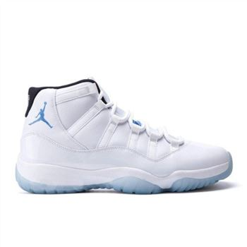 Authentic 378037-117 Air Jordan 11 Retro White/Black-Legend Blue Men's Shoe
