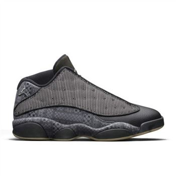 Authentic Air Jordan 13 Retro Low Q54 Black/Anthracite-White