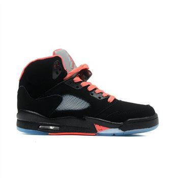 440892-001 Air Jordan 5 GS Black Alarming Red