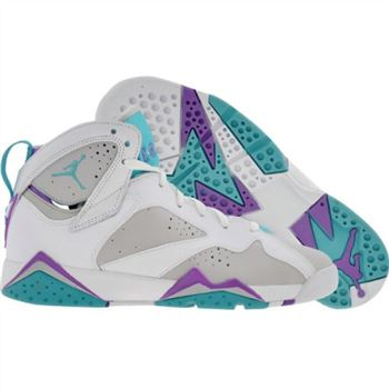 442960-001 Air Jordan 7 retro (gs) girls ntrl gry mnrl bl bright vlt whi A24034