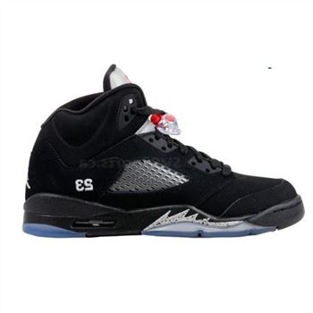 440888-010 Air Jordan 5 retro (gs) 2011 release black metallic silver vrsty rd A24032