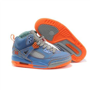 Jordan Spizike Women Basketball Shoes blue grey orange A24043
