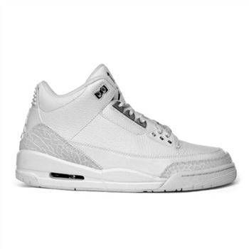 398614-102 Air Jordan 3 retro 25th anniversary (gs) white metallic silver A24022